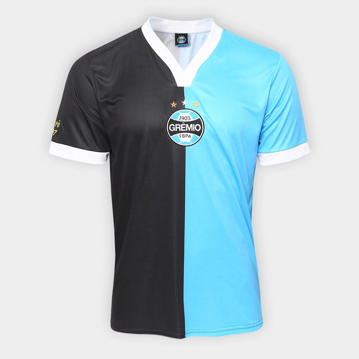 8d515e6a09 Camisa Grêmio Réplica 2007 Masculina - Preto e Azul - Compre Agora ...