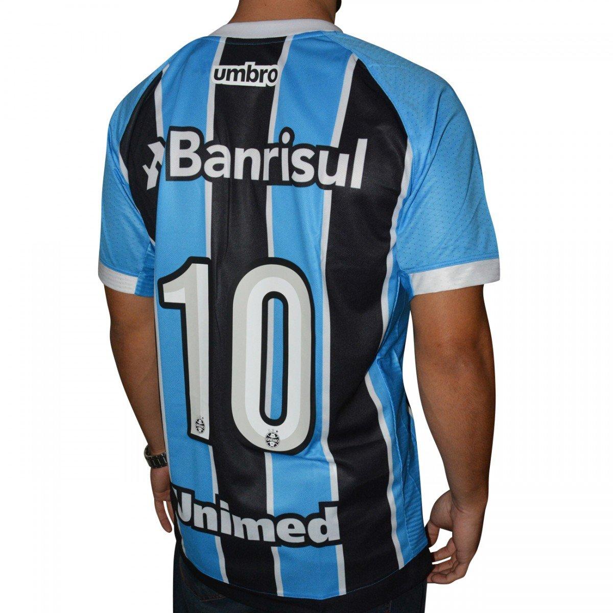 deea6d2453 Camisa Gremio Umbro 2017 - Preto e Azul - Compre Agora