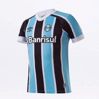 Camisa Grêmio Umbro Oficial I 2021 Tricolor Masculina Com Número 10