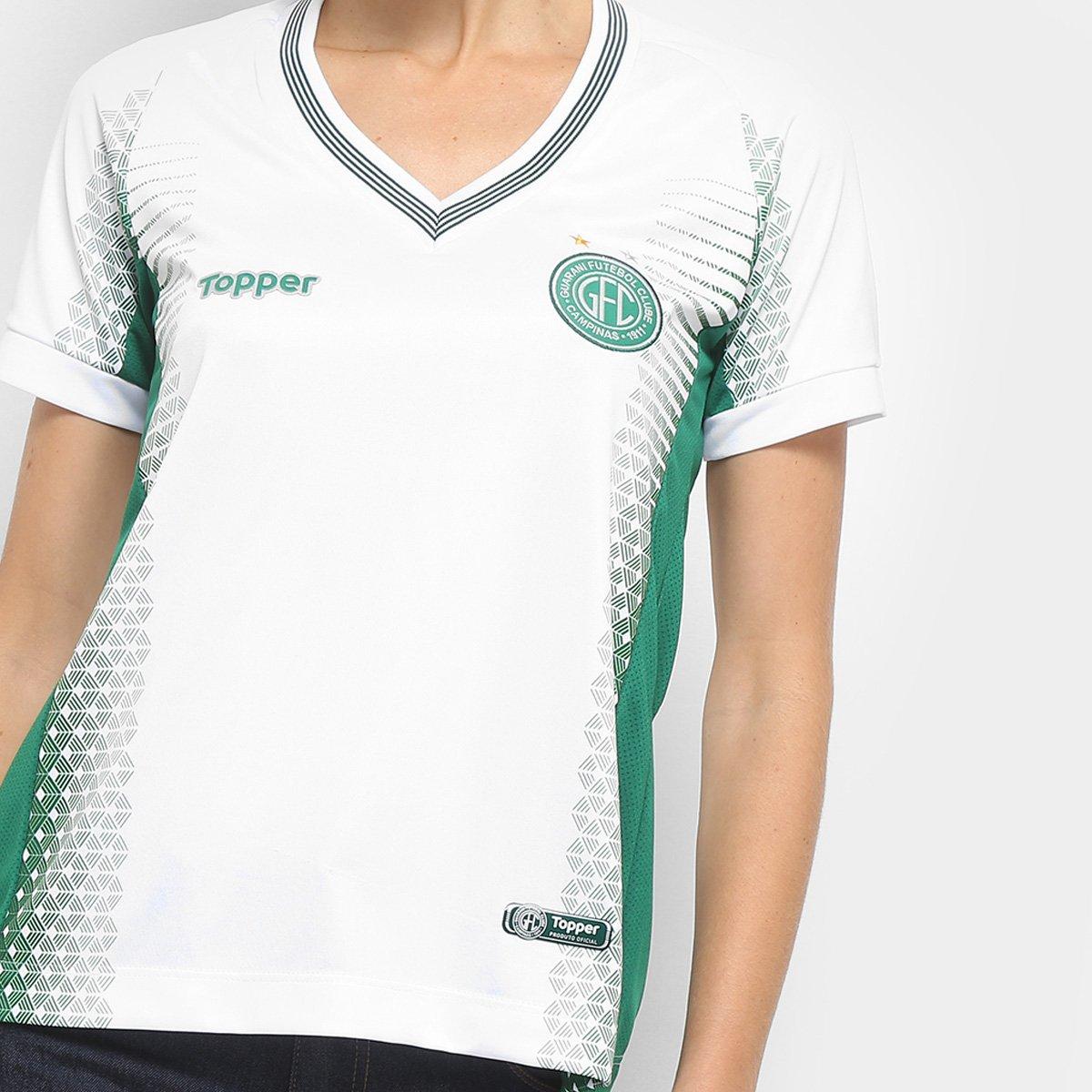 Camisa Guarani II 2018 s n° - Torcedor Topper Feminina - Compre ... 39b396d475cd5