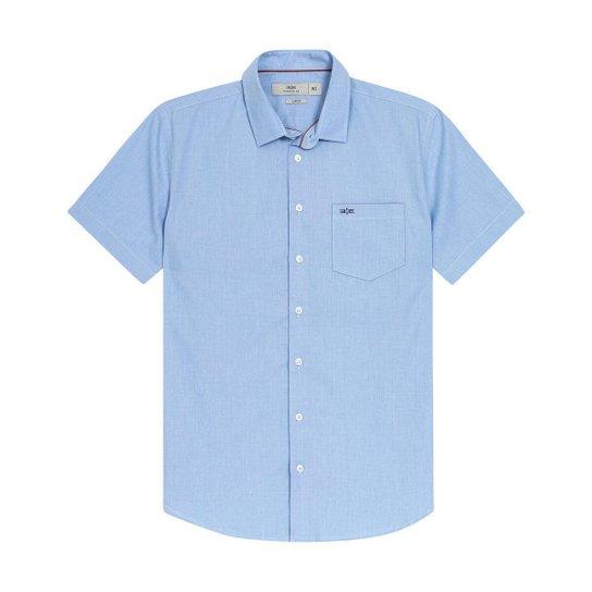 Camisa Hangar 33 Manga Curta - Azul