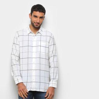 Camisa Hering Quadriculada Manga Longa Masculina