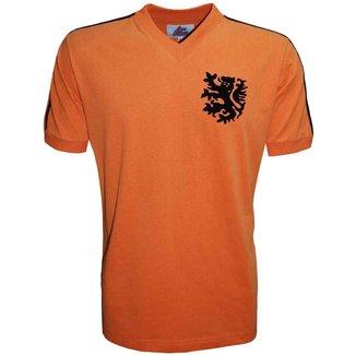Camisa Holanda 1974 Liga Retrô  Laranja 4G