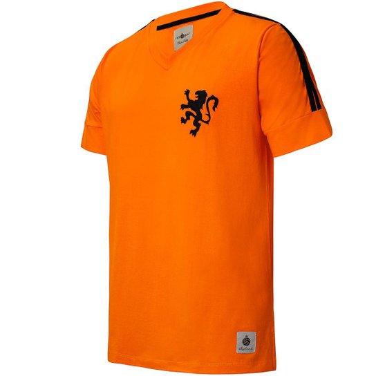 Camisa Holanda Retrô 1974 Cruyff Masculina - Laranja