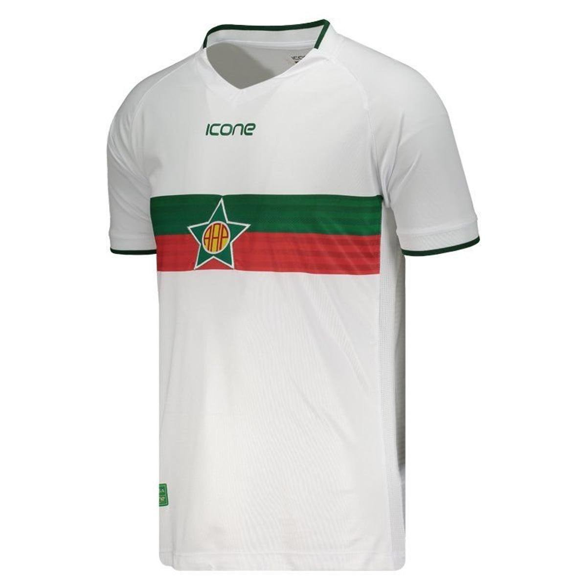 3fae89c81b Camisa Ícone Sports Portuguesa RJ I 2018 Masculina - Branco - Compre ...