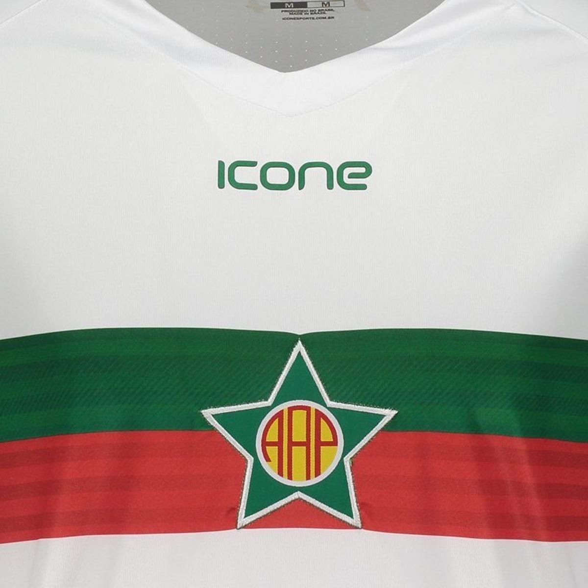 Camisa Ícone Sports Portuguesa RJ I 2018 Masculina - Branco - Compre ... 75d2a278fe85f