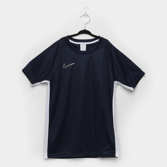 Camisa Infantil Nike Academy Dry Fit Top SS - Marinho