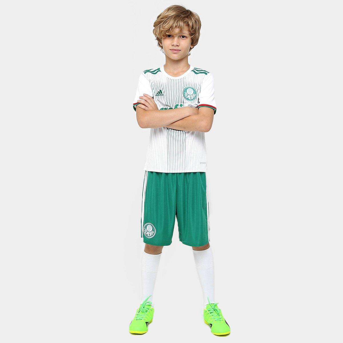Camisa Infantil Palmeiras II 2016 s nº Torcedor Adidas - Compre ... cbb9e27681855