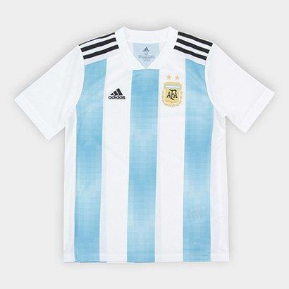 f52de23148fe6 Camisa Infantil Seleção Argentina Home 2018 S n° Torcedor Adidas