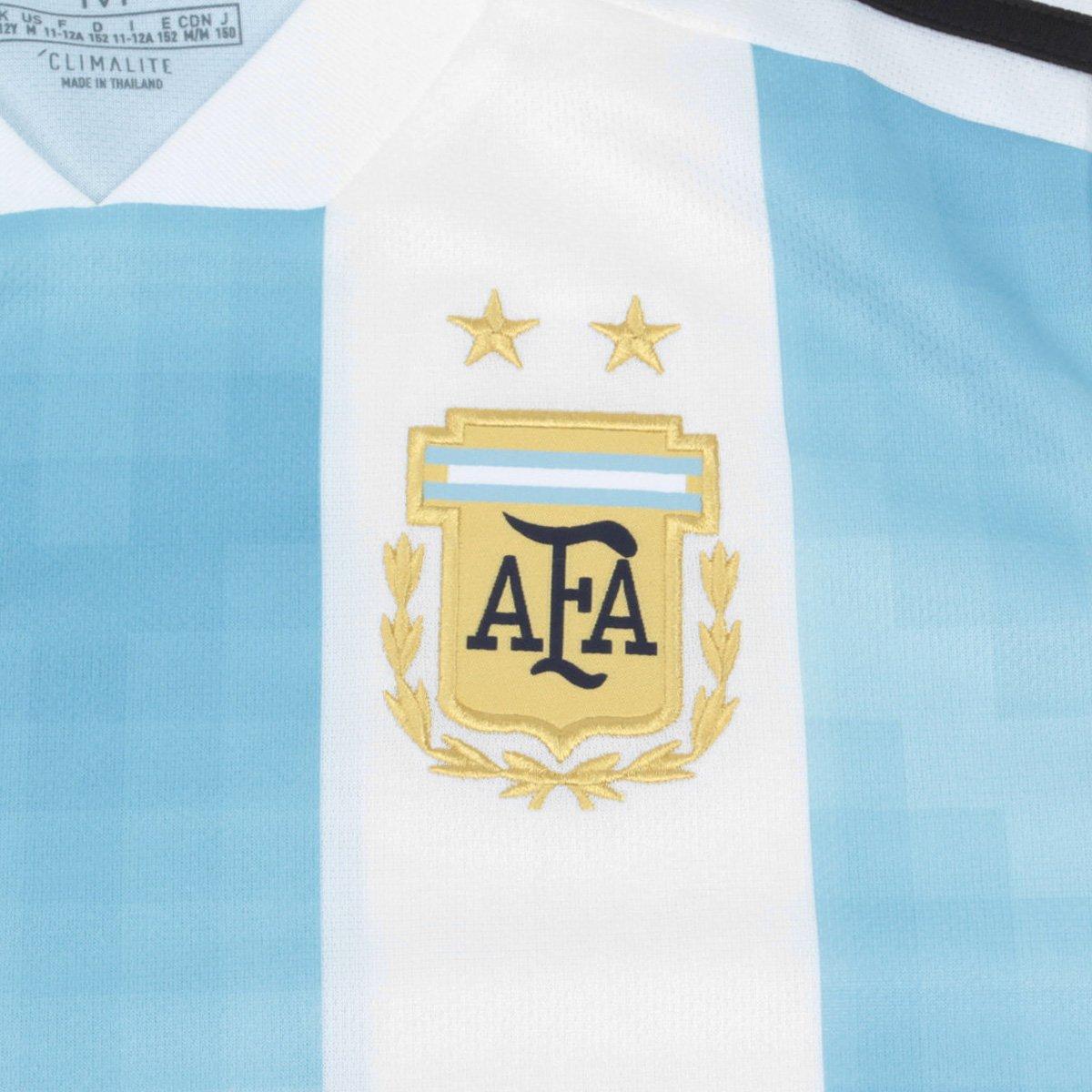 ... Camisa Infantil Seleção Argentina Home 2018 s n° Torcedor Adidas ... 144287c57dbe1