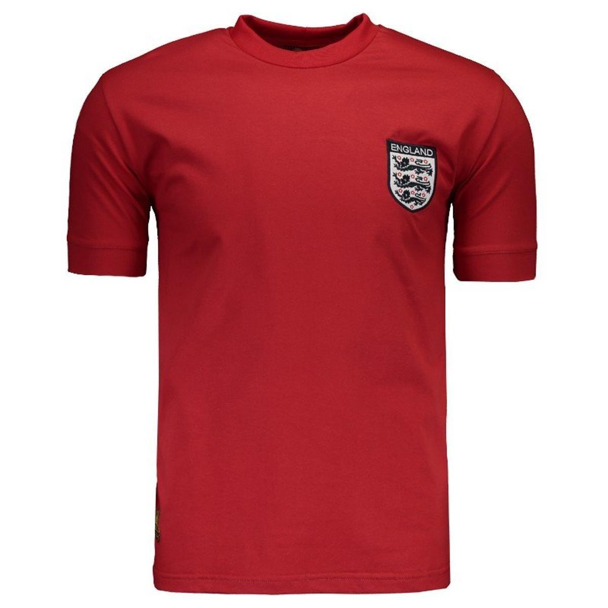 2a0518f3fd Camisa Inglaterra Retrô N° 9 Masculina - Vermelho - Compre Agora ...