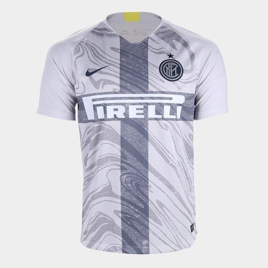 Camisa Inter de Milão Third 2018 s/n° - Torcedor Nike Masculina - Cinza