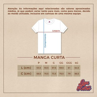Camisa Internacional 1976 Retrô  Branca g