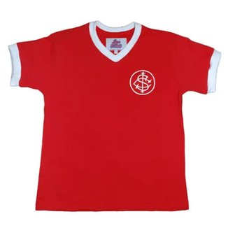 Camisa Internacional 1976 Retrô Infantil  Vermelha 12