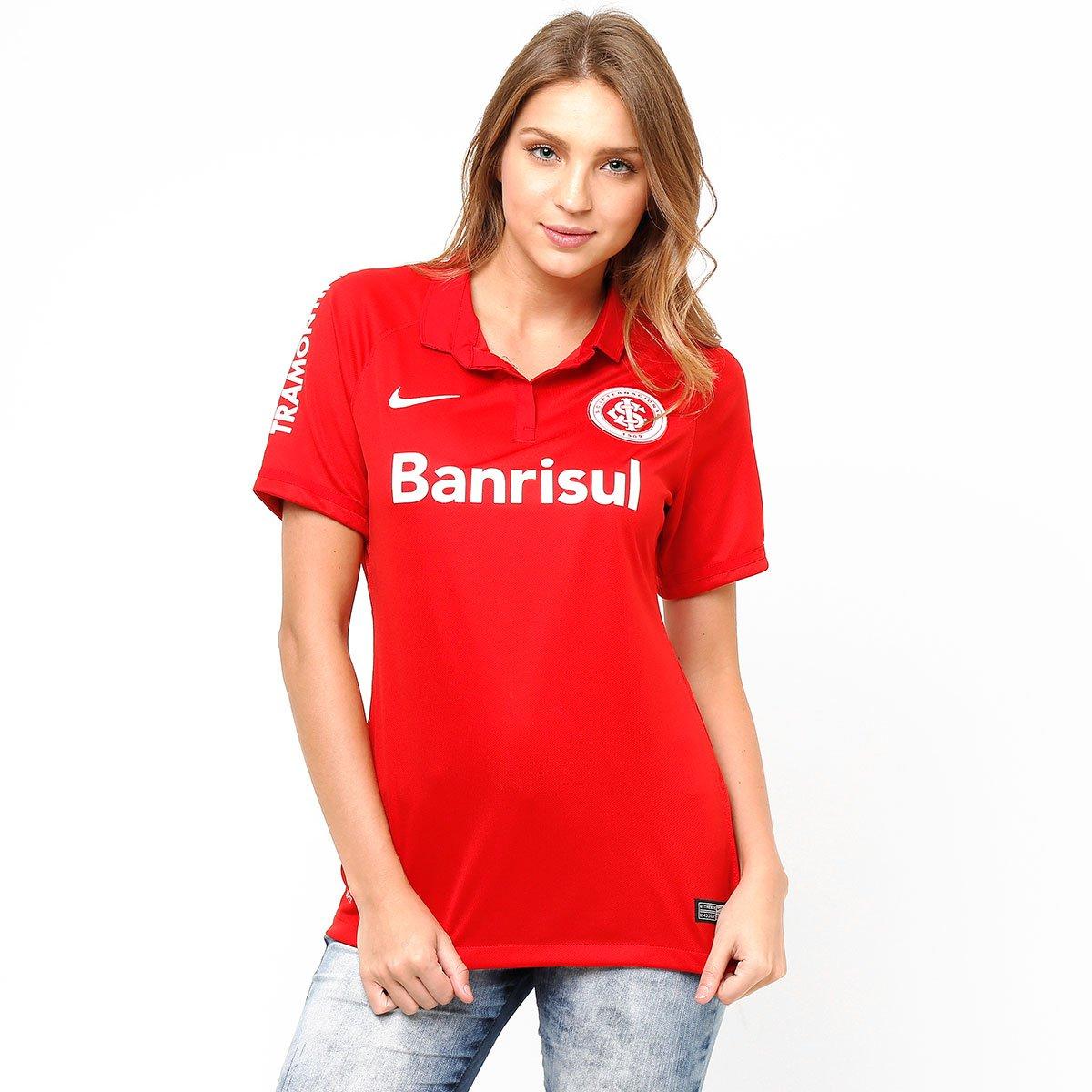 Camisa Internacional I 15 16 s nº - Torcedor Nike Feminina - Compre Agora  3452a3e0ae3ae