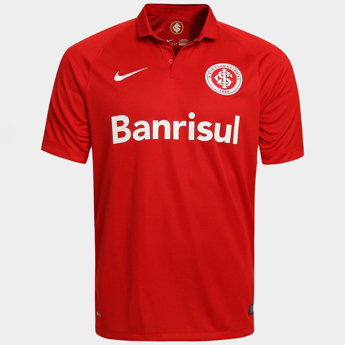 Camisa Internacional I 15 16 s nº Torcedor Nike Masculina - Compre Agora  ddba36e0b5f4e