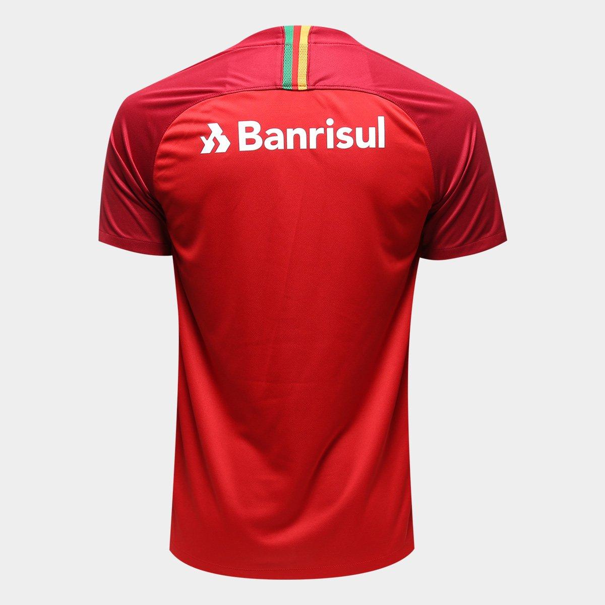 Camisa Internacional I 18 19 Torcedor Nike Masculina - Vermelho e ... b876970954736