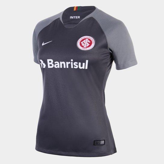 Camisa Internacional III 2018 s/n° Torcedor Nike Feminina - Cinza+Branco