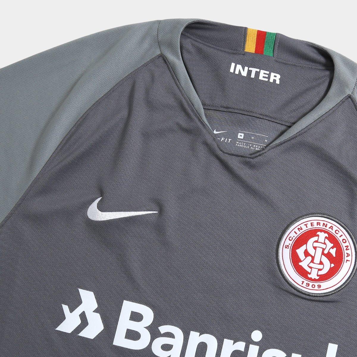 Camisa Internacional III 2018 s n° - Torcedor Nike Masculina - Cinza ... bd3737f108a25