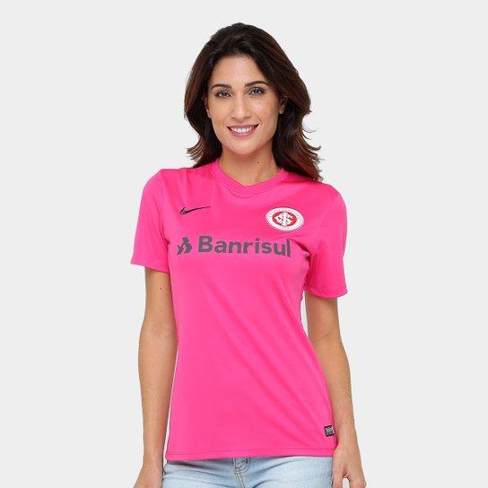 Camisa Internacional Nike Feminina - Rosa+Chumbo