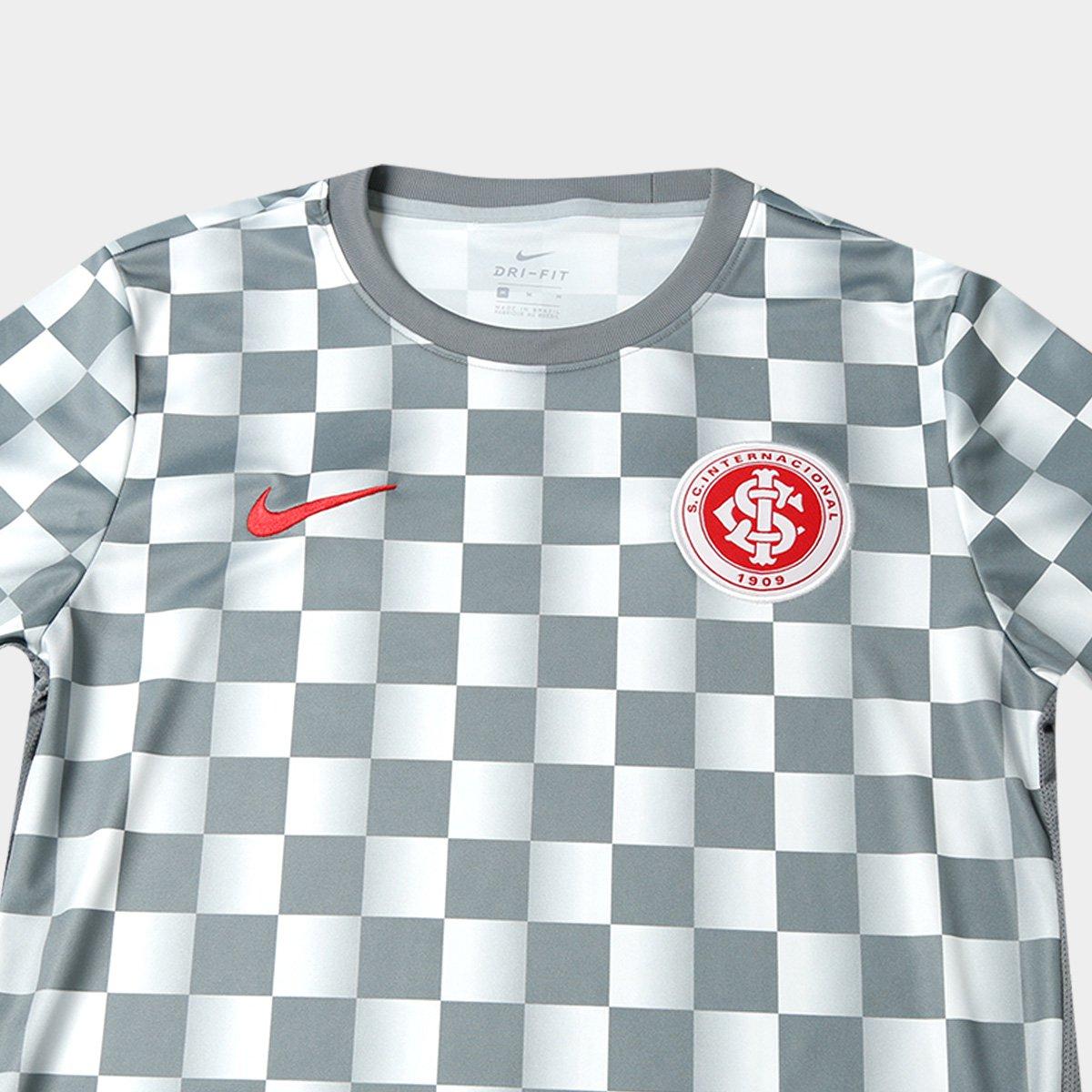 Camisa Internacional Pré Jogo 19 20 Nike Masculina - Cinza e ... 801fef21ca792