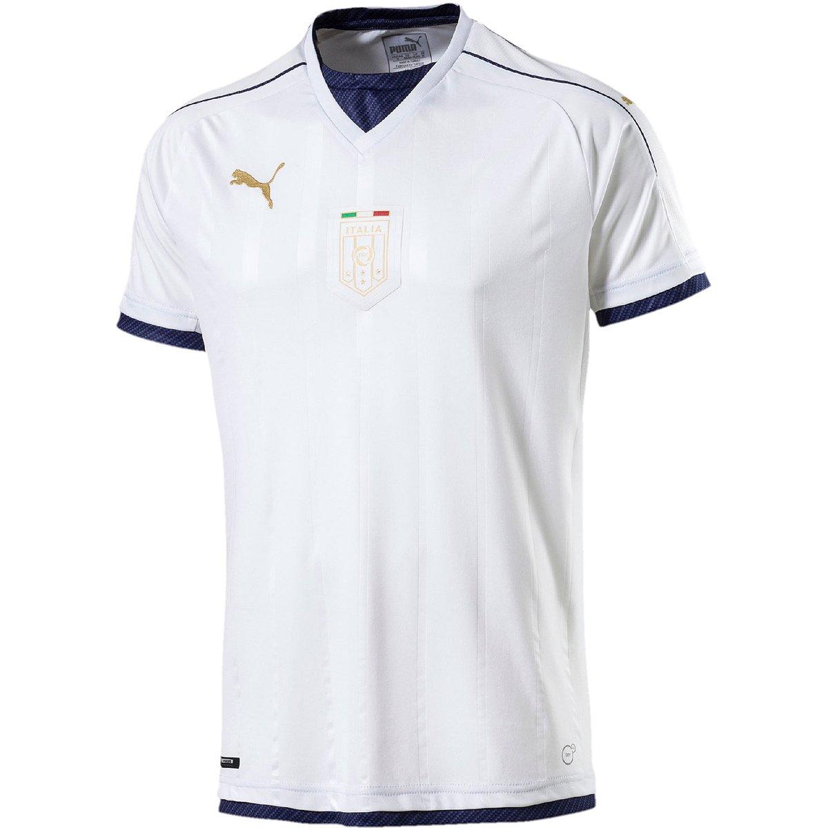 Camisa Itália Away 16 17 s nº Torcedor Puma Masculina - Branco ... b4a6b585cc449