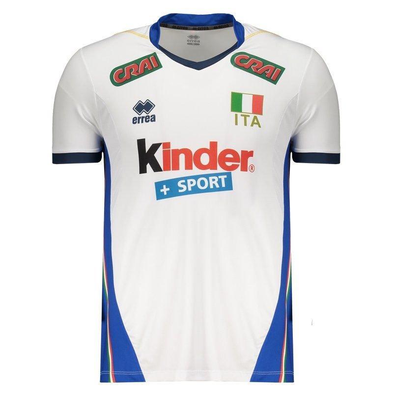 517cb2dad0f0d Camisa Itália Vôlei Away 2017 Errea Masculina - Compre Agora
