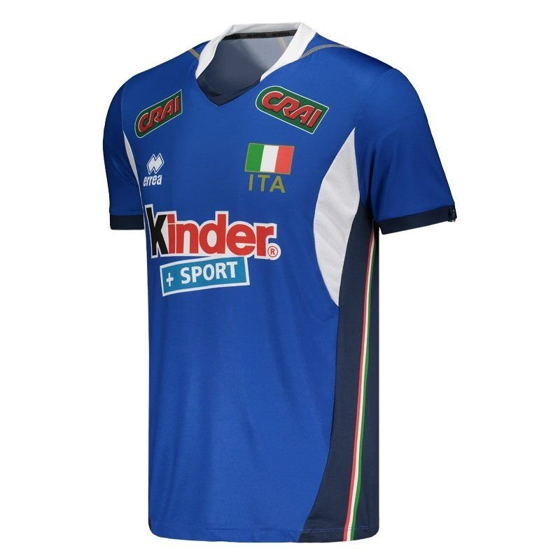 Camisa Itália Vôlei Home 2017 Errea Masculina - Azul - Compre Agora ... 01492a1b9af3b