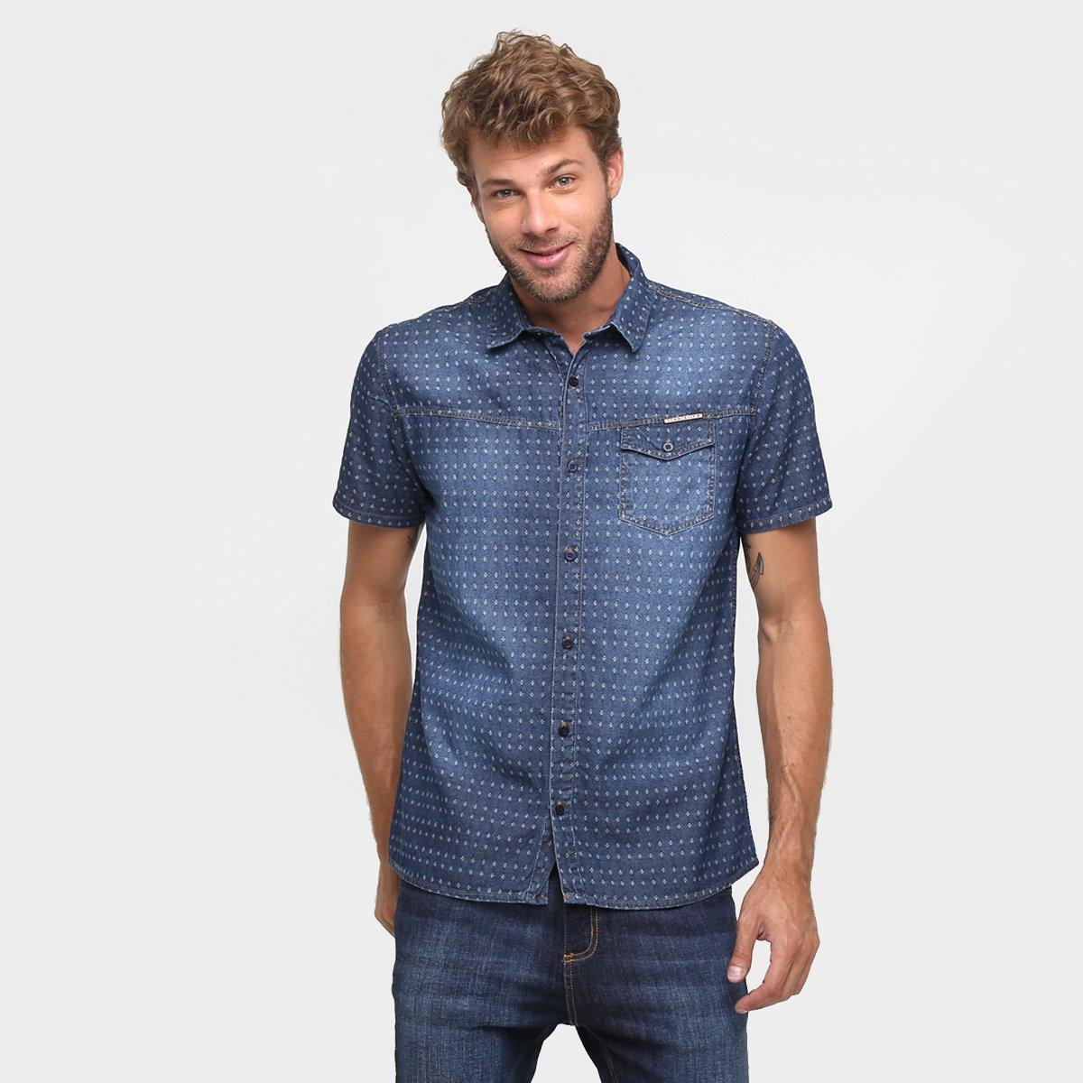 ab978aa649 Camisa Jeans Sommer Maquinetada - Compre Agora