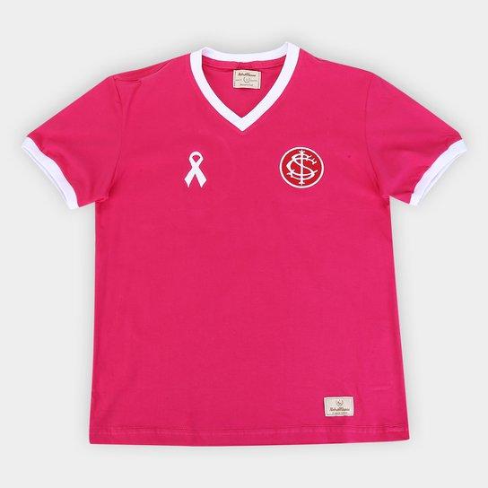Camisa Juvenil Internacional Outubro Rosa Retrô Mania - Rosa