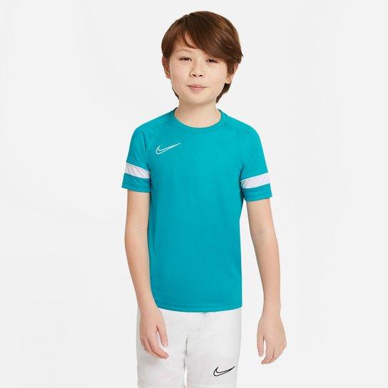Camisa Juvenil Nike Academy Dri-Fit - Verde água