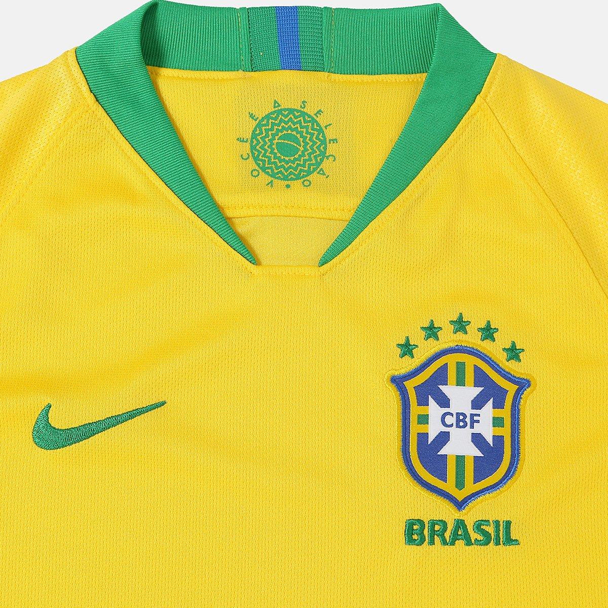 166e26ffe9 ... Camisa Juvenil Seleção Brasil I 2018 nº 11 P. Coutinho - Torcedor Nike  ...