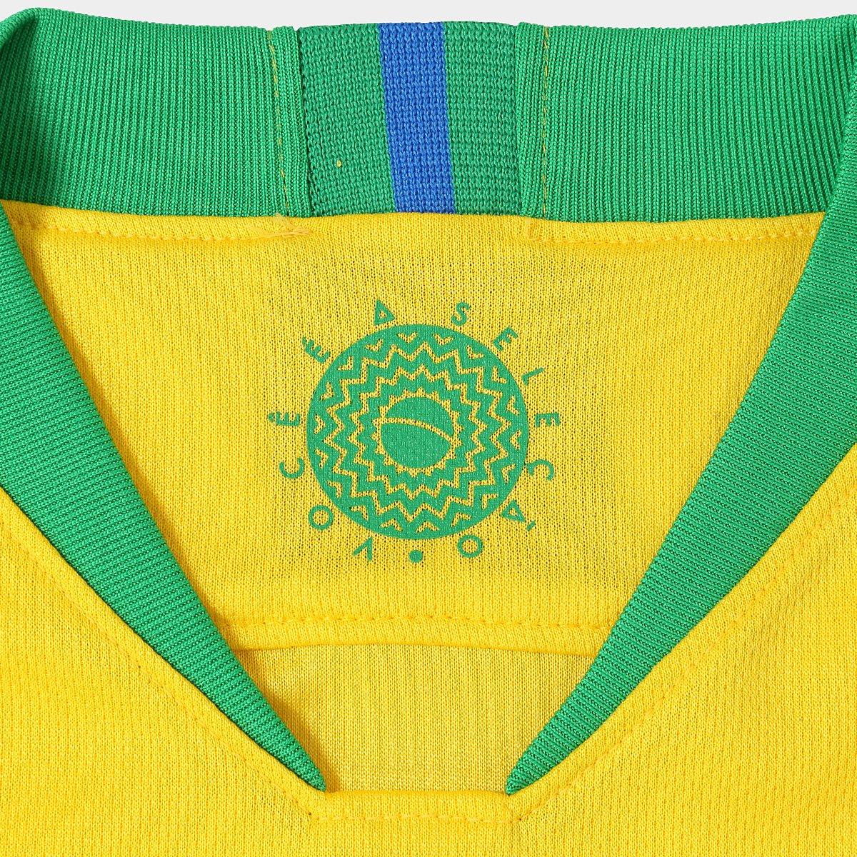 e Brasil Coutinho Torcedor I P Verde 2018 nº Seleção Amarelo 11 Nike Juvenil Camisa AEwq78TB