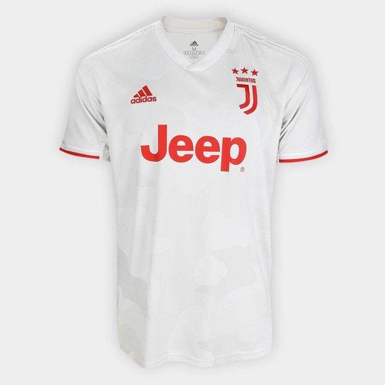 Camisa Juventus Away 19/20 s/nº Torcedor Adidas Masculina - Branco+Bege