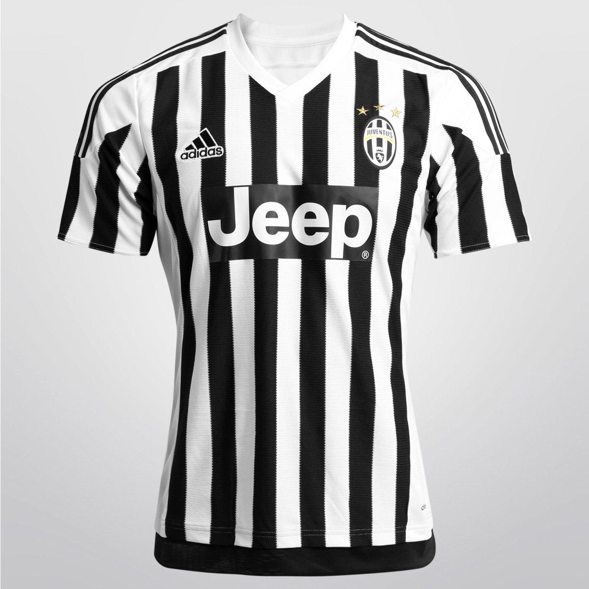 05bdc3a34783f Camisa Juventus Home 15 16 s nº Torcedor Adidas Masculina - Compre Agora
