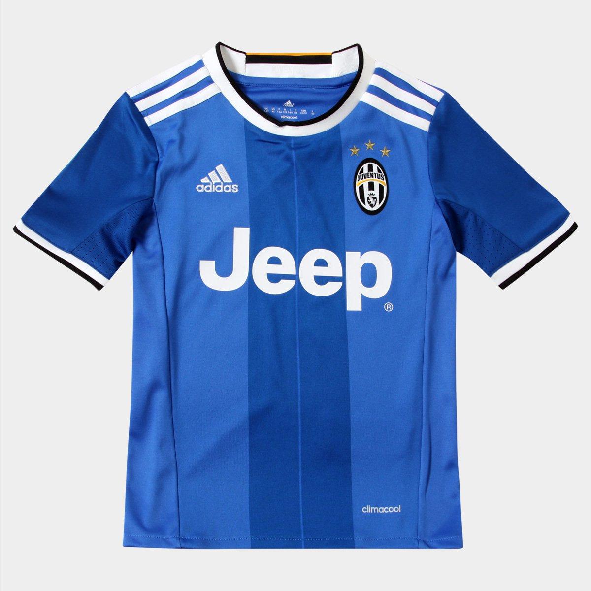 Camisa Juventus Infantil Away 16 17 s nº - Torcedor Adidas - Compre Agora  4979bb4c85833