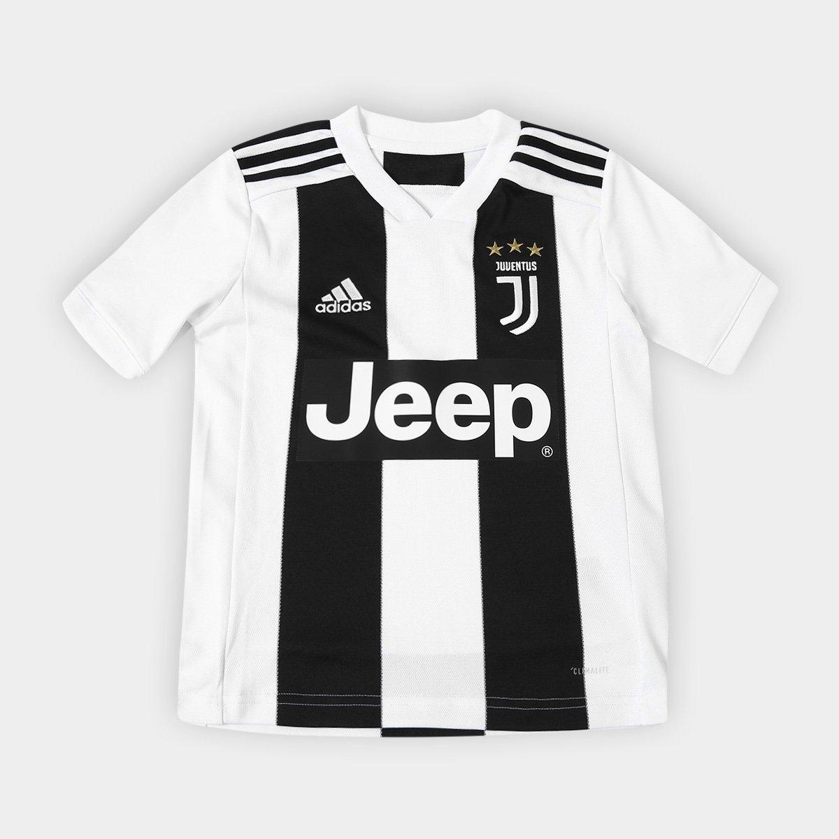 d8e7f741c21d9 Camisa Juventus Infantil Home 2018 s n° - Torcedor Adidas - Preto e Branco  - Compre Agora