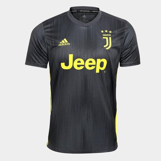 Camisa Juventus Third 2018 s/n° - Torcedor Adidas Masculina - Chumbo