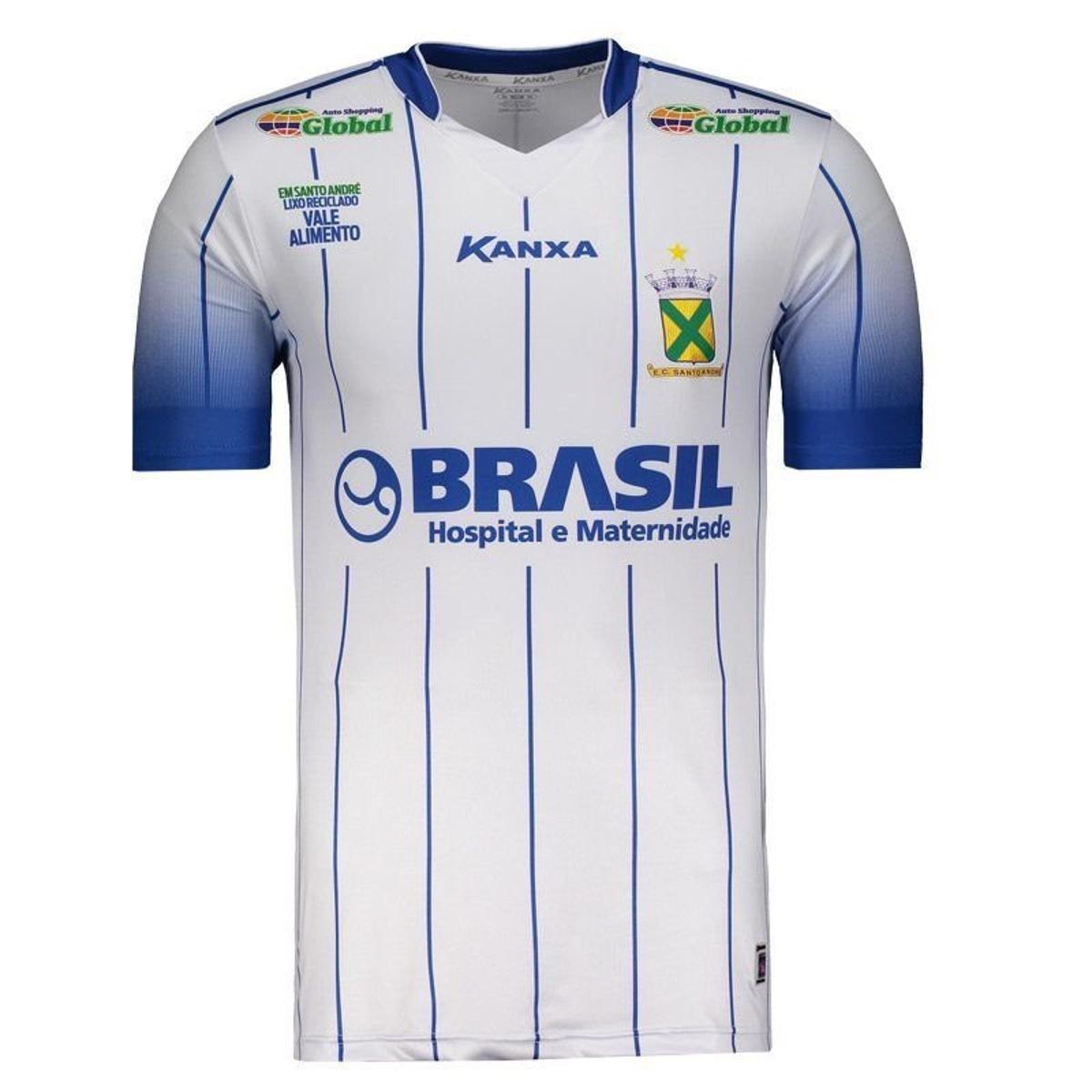 4786ba3c8 Camisa Kanxa Santo André I 2018 Masculina - Branco