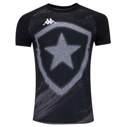 Camisa Kappa Botafogo Torcedor Fio Tinto Masculina - Masculino