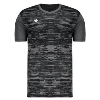 Camisa Kappa Jenner Treino Futebol Preta