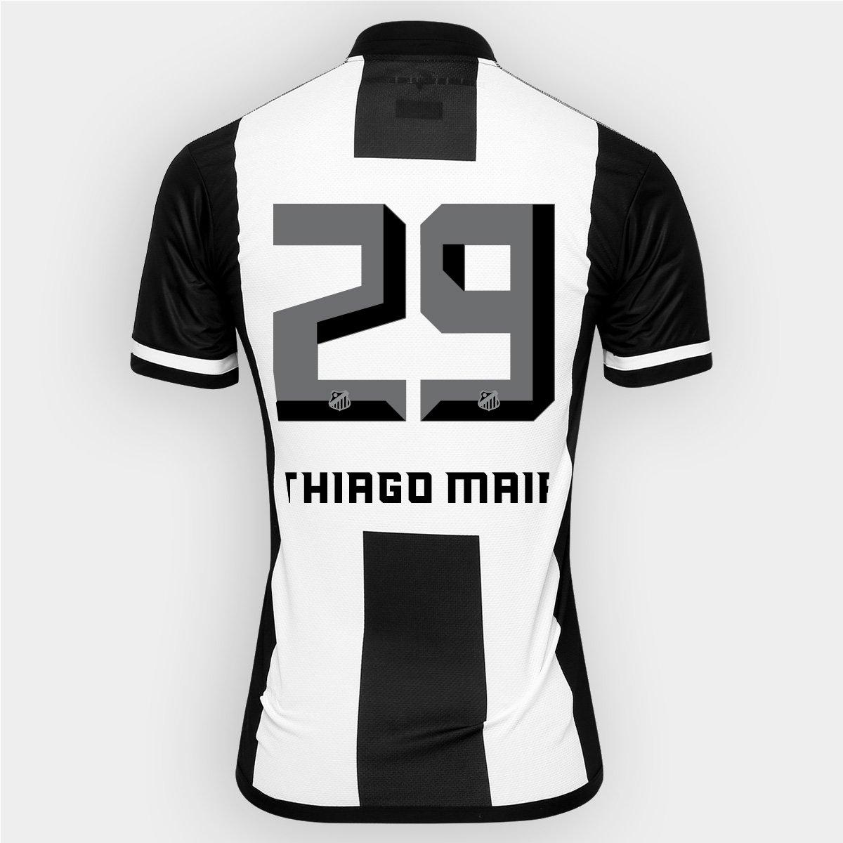 5592fa3123787 Camisa Kappa Santos II 2016 nº 29 - Thiago Maia - Compre Agora ...