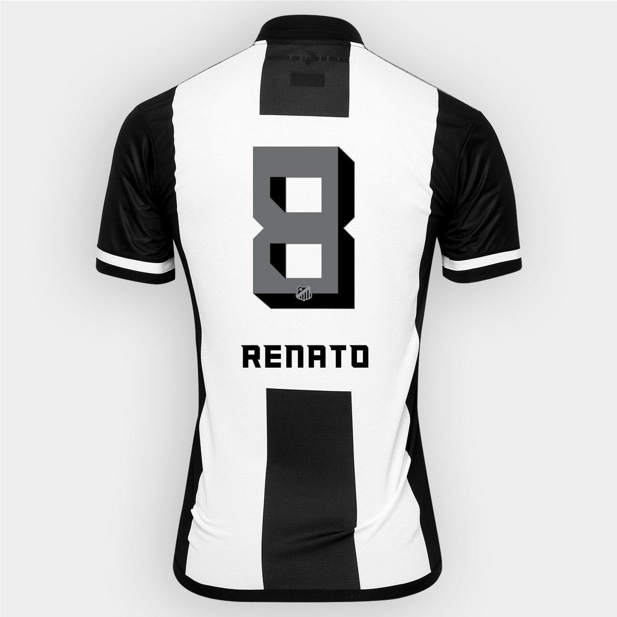 Camisa Kappa Santos II 2016 nº 8 - Renato - Compre Agora  f94ecfb939a5e