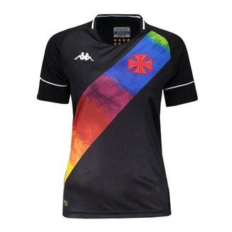 Camisa Kappa Vasco Oficial II LGBT 2021 Feminina