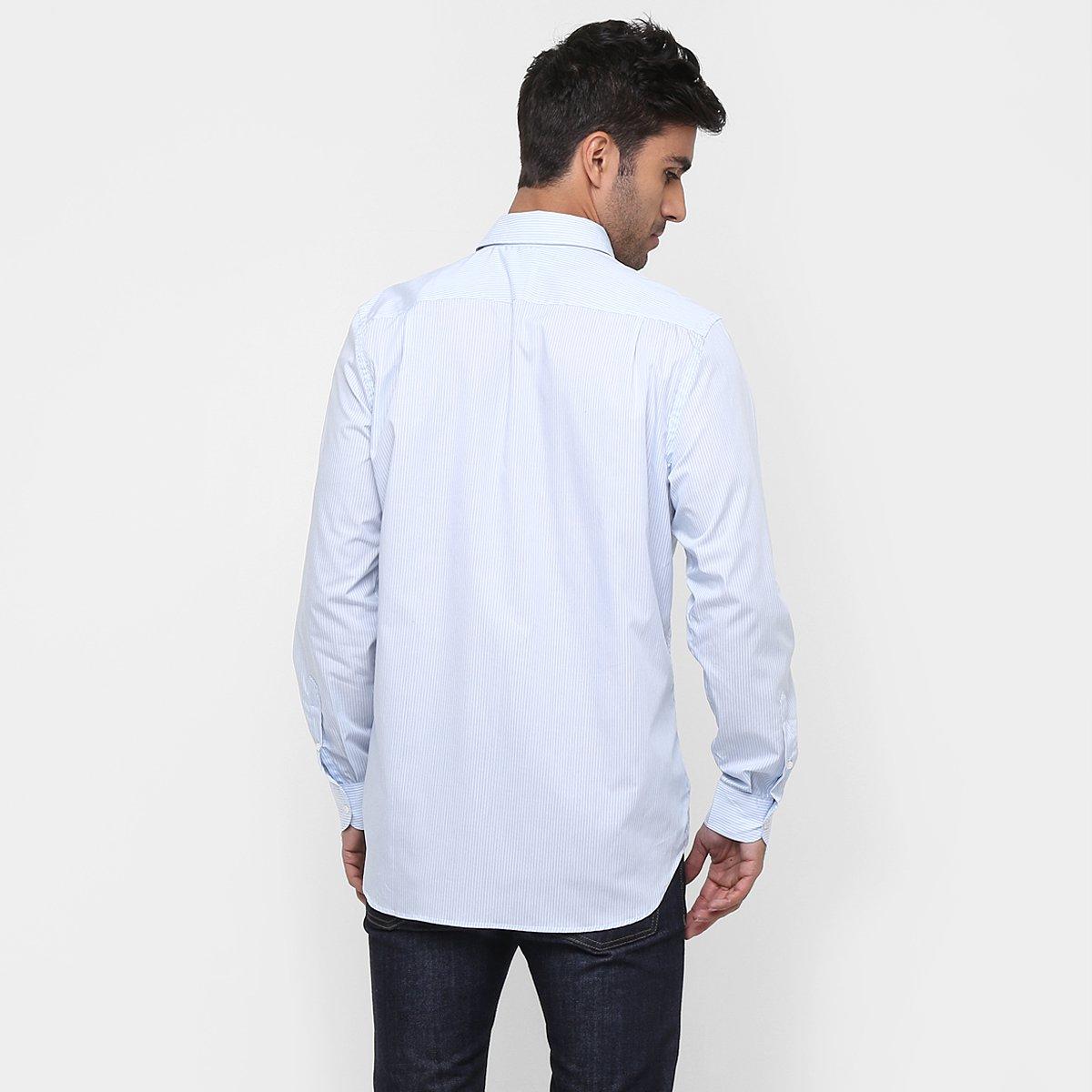 9d6e12f041df0 Camisa Lacoste Classic Fit Listrada  Camisa Lacoste Classic Fit Listrada ...