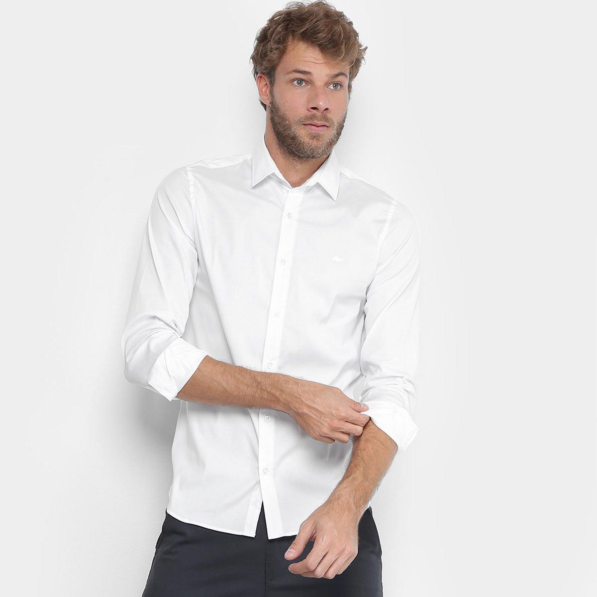 Camisa Lacoste Slim Fit com Logo Masculina - Compre Agora   Netshoes 659a22d9d2