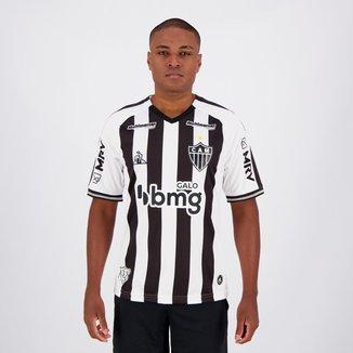 Camisa Le Coq Sportif Atlético Mineiro I 2020 Com Patrocínio Preta