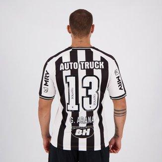 Camisa Le Coq Sportif Atlético Mineiro I 2020 N°13 G. Arana com Patrocínio Masculina