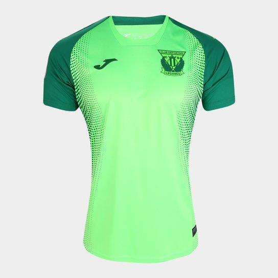 Camisa Leganés Away 19/20 s/nº Torcedor Joma Masculina - Verde Claro+Verde