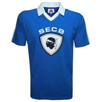 Camisa Liga Retrô Bastia 1978 Azul
